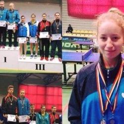 """Fistyulof și Mladin au dus Aradul pe podium la """"naționalele"""" de tenis de masă rezervate tineretului"""