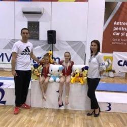 Gimnastele CSM-ului, medaliate la Cupa Petrom