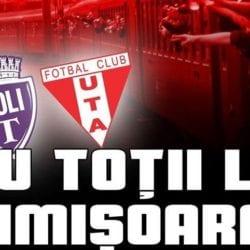Bilete la Poli - UTA, de mâine și la Arad