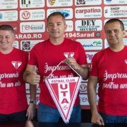"""Campioana Provinciei revine la matcă și ca denumire: """"Suntem FC UTA Arad, din punct de vedere juridic lupta a luat sfârșit. Poate fi săptămâna mare a fotbalului arădean"""""""