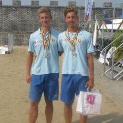 Un nou argint național pentru arădenii Rodina și Katona la volei pe plajă