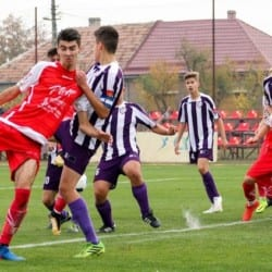 """""""Roș-albii"""" sunt lideri în seria de Vest a Ligii Elitelor: UTA Under 17 - Centrul Național Mureș  5-0"""