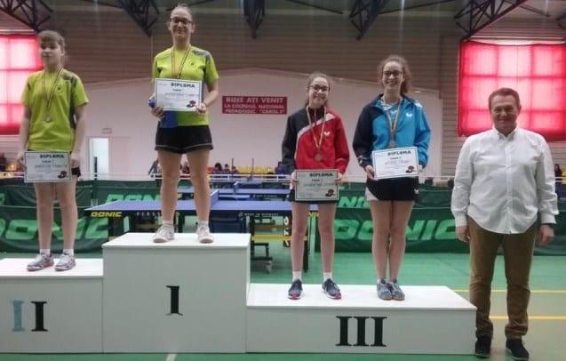 Irina Rus a urcat pe podium la naţionalele juniorilor II la tenis de masă