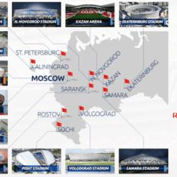 Cupa Mondială se joacă pe 12 stadioane din Federația Rusă