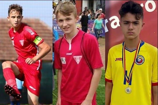 Aradul dă trei jucători la naționala Under 15: Petruț, Vulturar și Adamcsik - selecționați din 153 de fotbaliști din toată țara