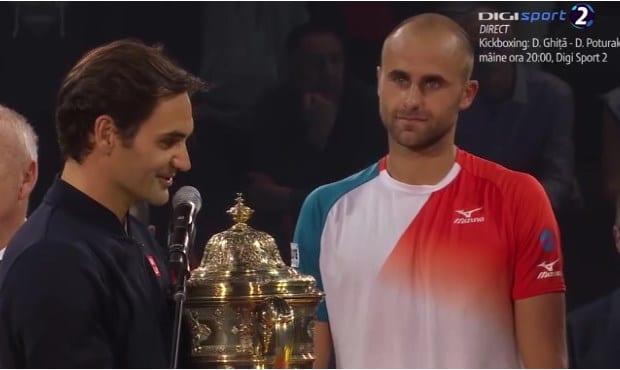 """Înfrângere onorabilă pentru Copil în finala de la Basel, cu Federer! """"Roger îţi mulţumesc foarte mult pentru ceea ce ai făcut în tenis!"""""""
