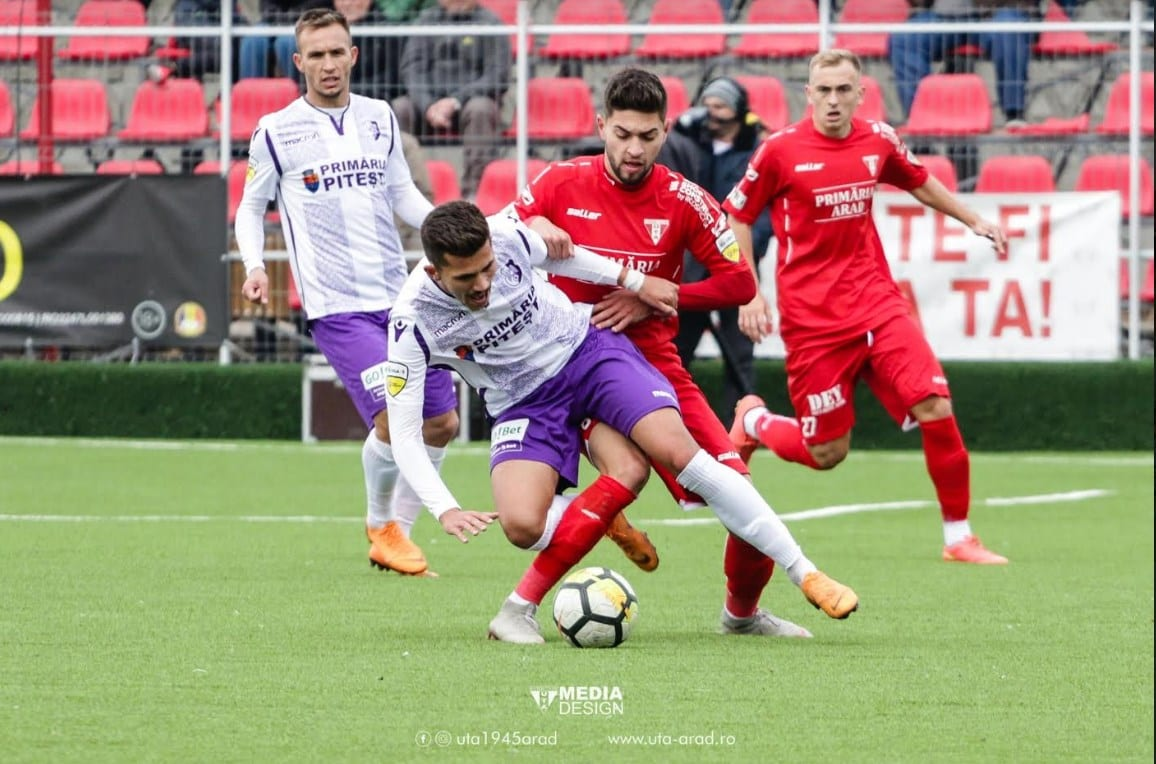 Livetext, ora 13.00 : UTA – FC Argeș  1-2, final