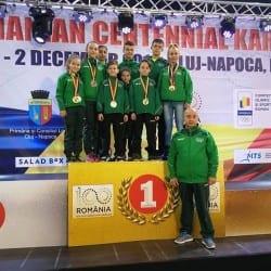 Medalii prețioase pentru Banzai Karate Club la Openul Centenar de la Cluj, onorat de 846 de sportivi din 18 țări!