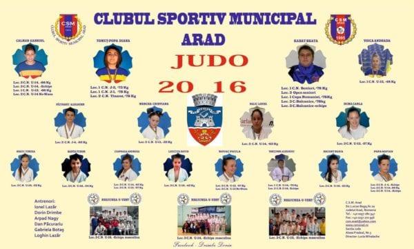 28 de medalii oficiale, palmaresul judoka de la CSM Arad pe anul 2016