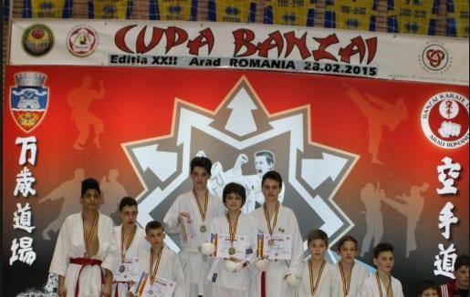 Aproximativ 350 de karateka la ediția a 24-a a Cupei Banzai