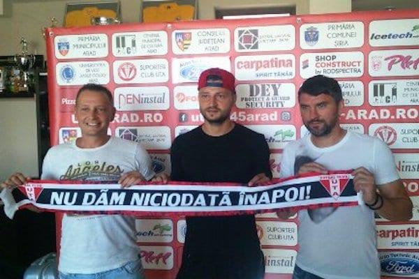 Mihalcea și-a primit fundașul: UTA a oficializat transferul lui Cristian Scutaru