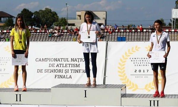 """Mădălina Florea – dublă medaliată cu argint la """"naționalele"""" de atletism, Rusu a luat """"bronzul"""" la tineret"""