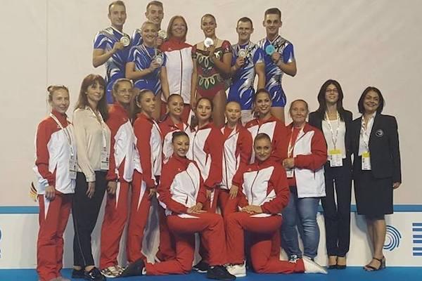 Gabriel Bocșer, triplu medaliat cu aur la Europenele de gimnastică aerobică pentru seniori