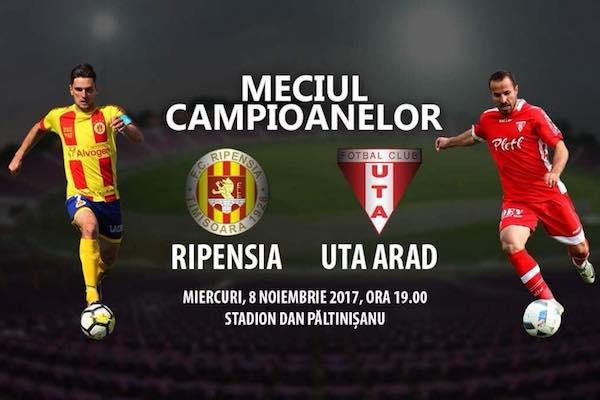 Ripensia – UTA, meciul fostelor campioane ale României în căutarea unui colac de salvare în Liga 2-a!