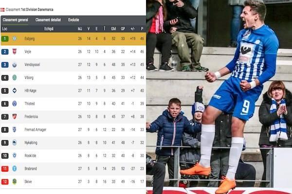Adi Petre e lider cu Esbjerg după golul său cu numărul 10