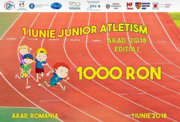 """Mai sunt două zile până la """"1 Iunie Junior Atletism""""! Vezi ce premii în bani îi așteaptă pe elevii participanți la concursul de pe """"Gloria"""""""