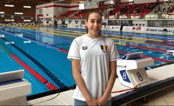 Înotătoarea Andreea Popescu, premieră pentru România!