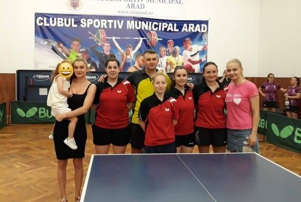 Fetele CSM-ului au cucerit bronzul Superligii naționale de tenis de masă!