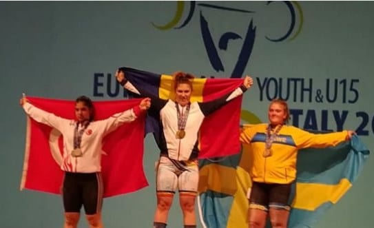 Halterofila Luciana Condurache e triplă campioană europeană