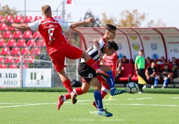"""Debut cu """"duș rece"""" și acasă în Liga Elitelor: UTA Under 19 – U. Cluj 0-5"""