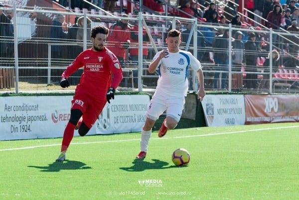 """Melinte a revenit cu gol în tricoul """"roș-alb"""": """"Suntem UTA, ne gândim doar la victorie meci de meci"""""""