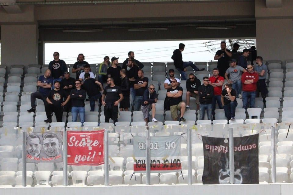 """Suporterii lui U. și ai UTA-ei, aproape de o confruntare la porțile de la """"Cluj Arena"""""""