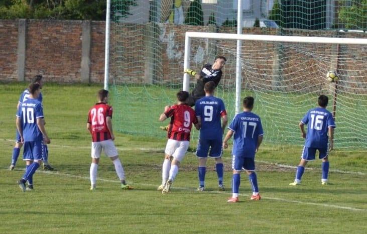 Portari inspirați la penalty-uri, oaspeții au găsit resursele revenirii pe tabelă: Unirea Sântana – Victoria Zăbrani  2-2
