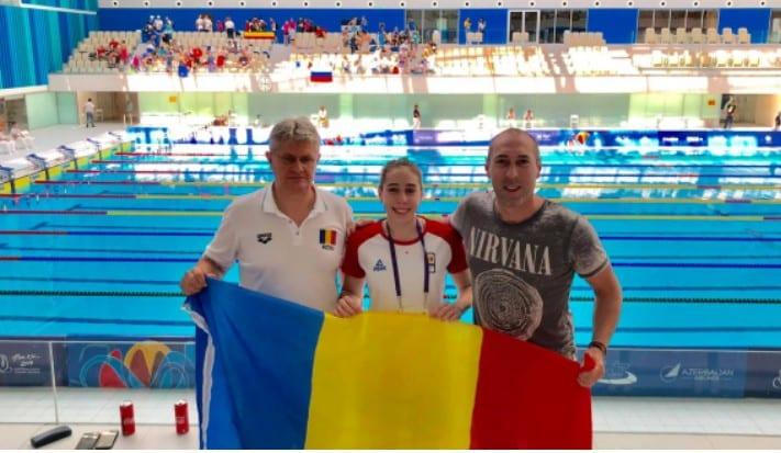 Înotătoarea Andreea Popescu s-a remarcat la Festivalul Olimpic