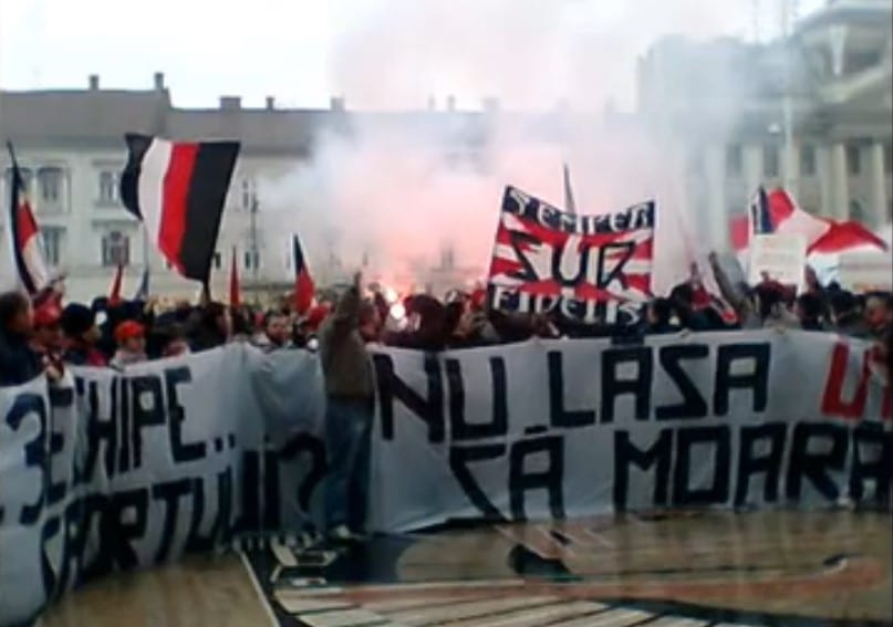 """Suporterii UTA-ei aleg forma de protest în """"speța"""" arenei """"Francisc Neuman"""": """"Să ne reamintim ceea ce ne unește!"""""""