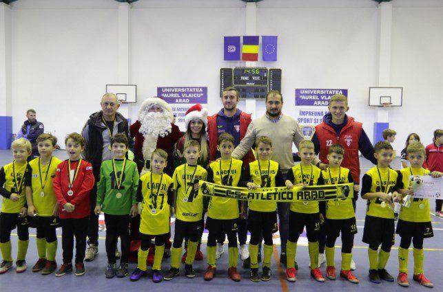 Elevii lui Mihai Roșca au pus mâna pe Cupa de Crăciun Atletico, la categoria de vârstă 2011