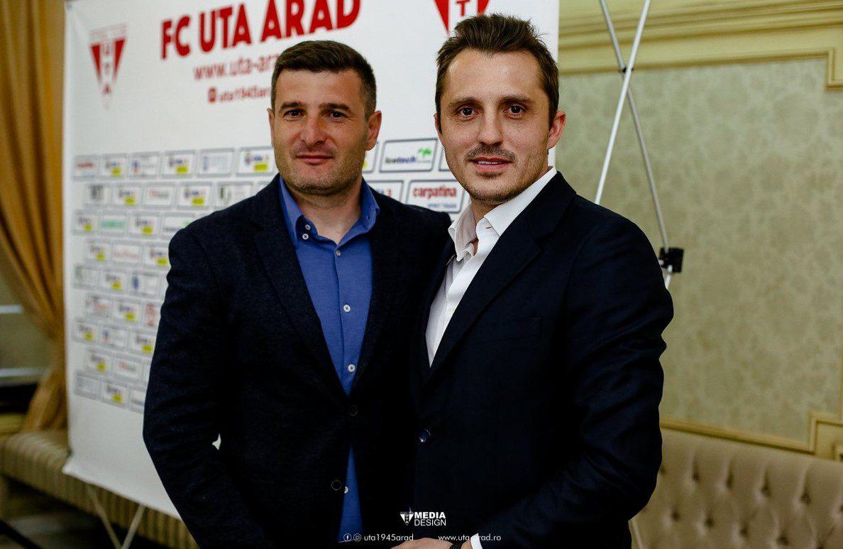 """Ce seară și pentru Apostu! """"Măria Sa fotbalul i-a răsplătit pe cei mai buni, UTA – cea mai bună echipă a sezonului și FC Argeș – cea mai bună echipă a play-offului"""""""