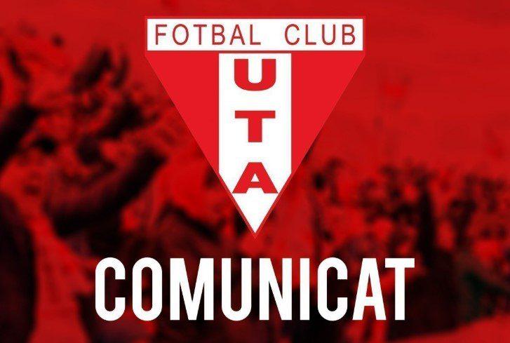 Clubul UTA își rezervă dreptul de ataca decizia FRF (play-off cu înjumătățirea punctelor) la forurile competente și face apel la autoritățile locale pentru sprijin financiar!