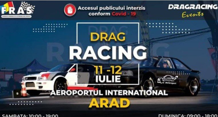 Motoarele se turează în etapa națională de Drag Racing departe de ochii spectatorilor arădeni