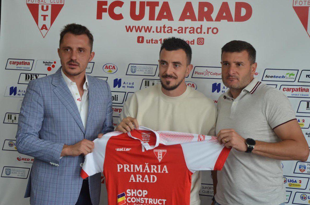"""Liga 1 și Hora revin după 12 ani la Arad: """"La UTA mi-este o parte din suflet, aici am debutat și doresc să ofer înapoi ceea ce mi s-a oferit"""""""