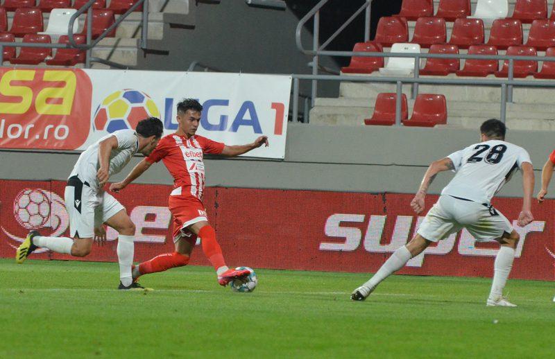 """Denis Rusu, al șaselea debutant utist în Liga 1: """"O seară pe care nu o voi uita niciodată, păcat că nu am reușit să câștigăm"""""""