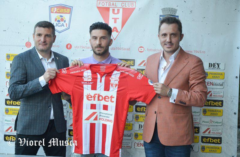 """UTA a oficializat transferul croatului Klapan: """"O onoare mare să vin aici, sunt tânăr, îmi voi reveni repede din punct de vedere fizic"""""""