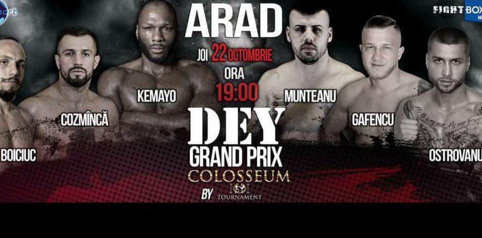 """UPDATE! Munteanu are Covid și nu se mai bate deseară la """"Dey Grand Prix Colosseum""""! Gafencu promite spectacol în fața sârbului Bajovic"""
