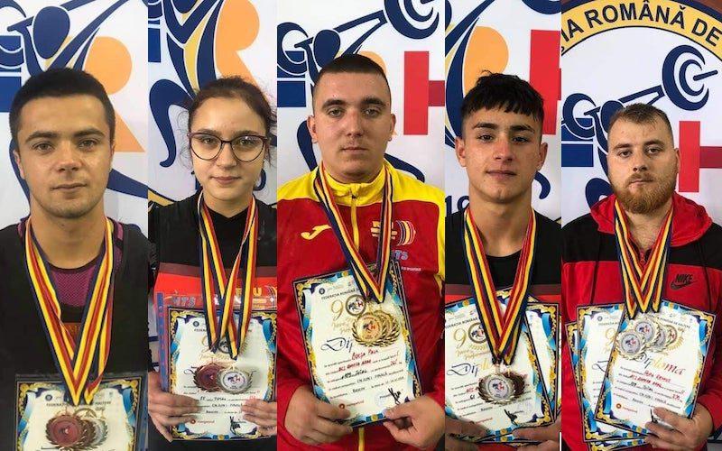 Halterofilii AMEFA-ei s-au întors de la Bascov cu 14 medalii naționale