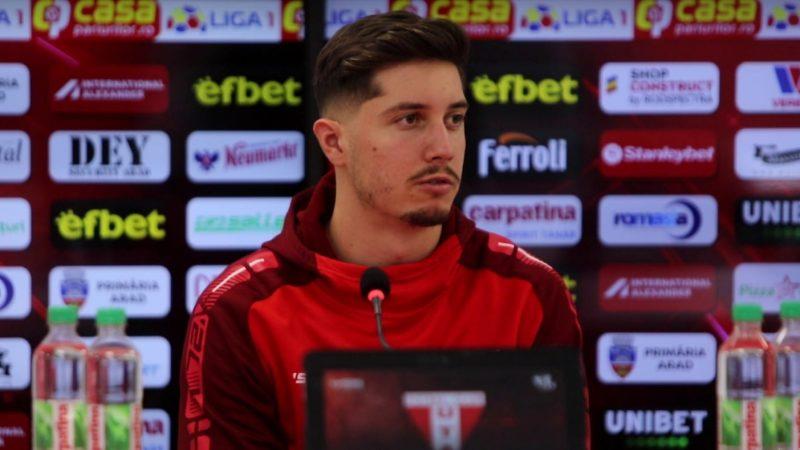 """Miculescu a debutat în Liga 1 cu Dinamo și vrea s-o bată în dublă manșă: """"Nu sunt mai periculoși decât în tur, dar nici nu va fi un meci ușor"""""""