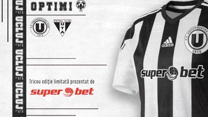 Fotbaliștii lui U. Cluj vor îmbrăca tricouri de joc ediție limitată la meciul cu UTA, ce vor ajunge în posesia fanilor de pe Someș!