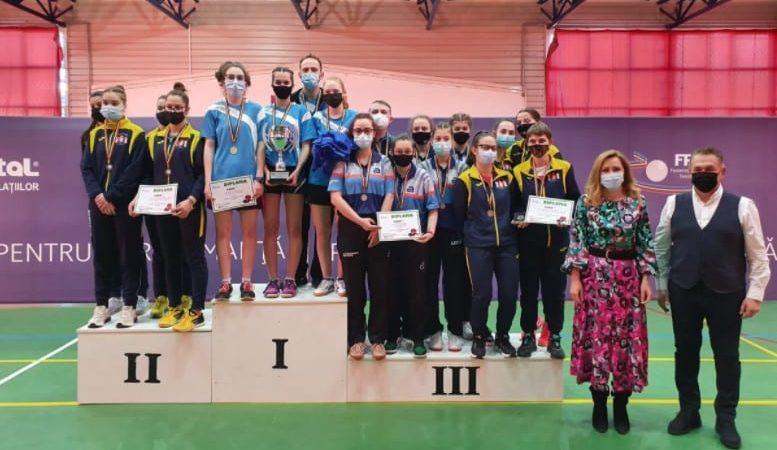 Junioarele CSM-ului Arad – pe podiumul naţional la tenis de masă!