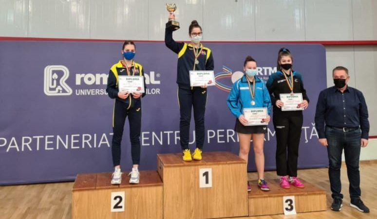 Alesia Sferlea a urcat pe podium la Cupa României la tenis de masă