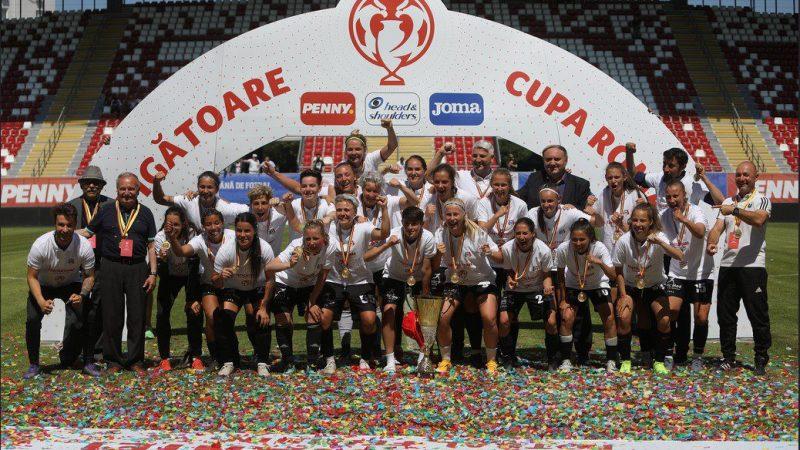 """Stadionul """"Francisc Neuman"""" le-a purtat noroc fotbalistelor de la Olimpia Cluj, care au pus mâna pe a 7-a Cupă în ultimul deceniu! + FOTO"""