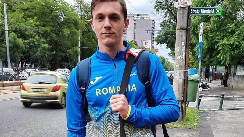 Aflat la debutul internaţional, atletul Andrei Severin s-a apropiat de podiumul balcanic al juniorilor