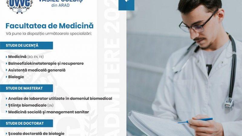 """Un reper în domeniul educaţiei medicale. Studenţi din peste 20 de ţări la Facultatea de Medicină din cadrul Universităţii de Vest """"Vasile Goldiş"""" din Arad."""