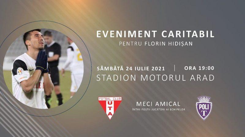 În această seară, e derby caritabil în Vest: Veteranii celor de la UTA și Poli joacă pentru Florin Hidișan!