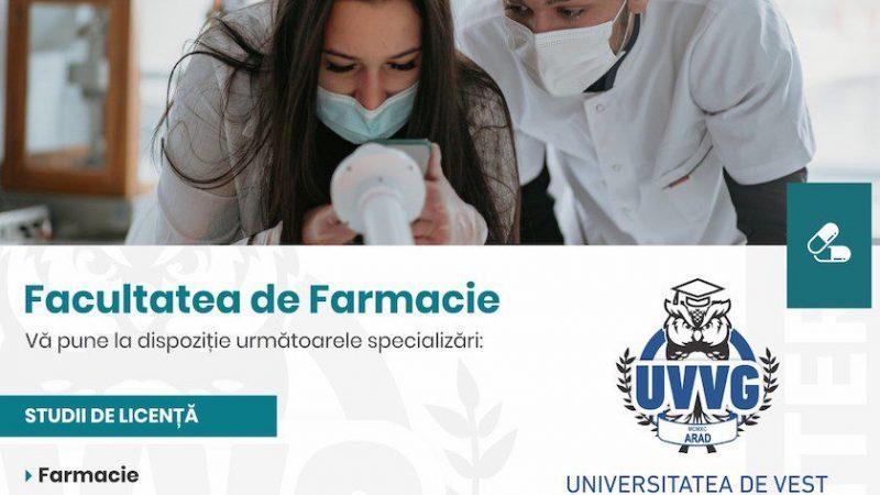 """Un loc, o profesie, un business. Facultatea de Farmacie din cadrul Universităţii de Vest """"Vasile Goldiş"""" din Arad atrage ca un magnet"""