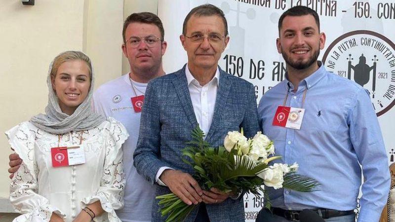 """Liga Studenţilor UVVG, la """"Serbarea de la Putna""""!  Universitatea de Vest """"Vasile Goldiş"""" din Arad a fost reprezentată la sărbătoarea celor 150 de ani de la prima ediţie"""