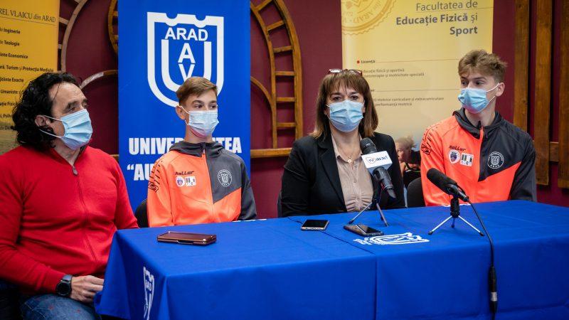 """Descoperiți la Petroșani, Popa și Branda au dus CS Universitatea Arad și """"tricolorul"""" pe cele mai înalte trepte ale gimnasticii aerobice europene: """"Ambiție și muncă!"""""""